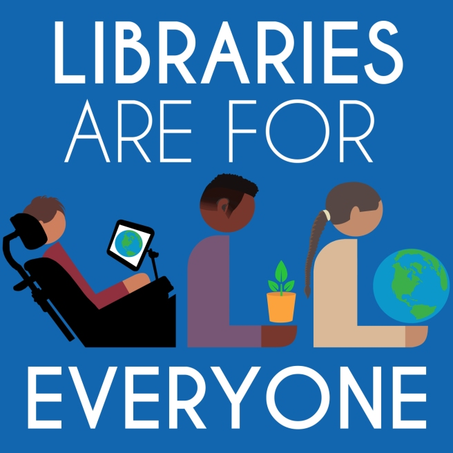 Libraries Are For Everyone. By Hafuboti.